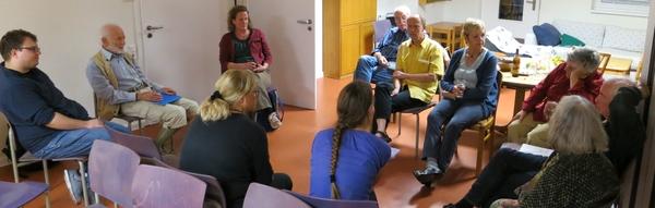 Diskussionsrunde nach dem ersten Filmabend im September 2015
