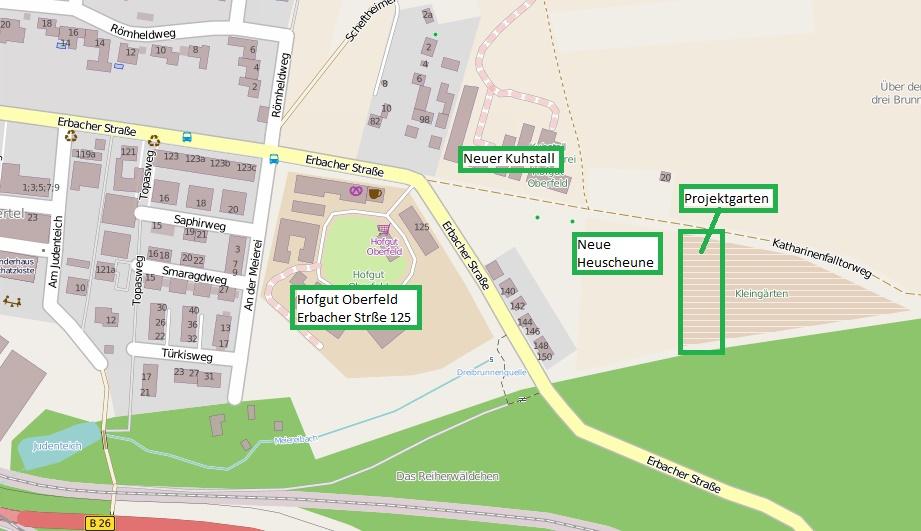 Lageplan Projektgarten