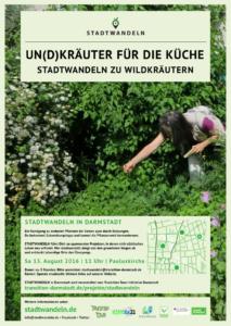 Plakat Stadtwandeln Essbare Stadt August 2016