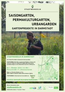 Plakat_Stadtwandeln Gartenprojekte Oktober16
