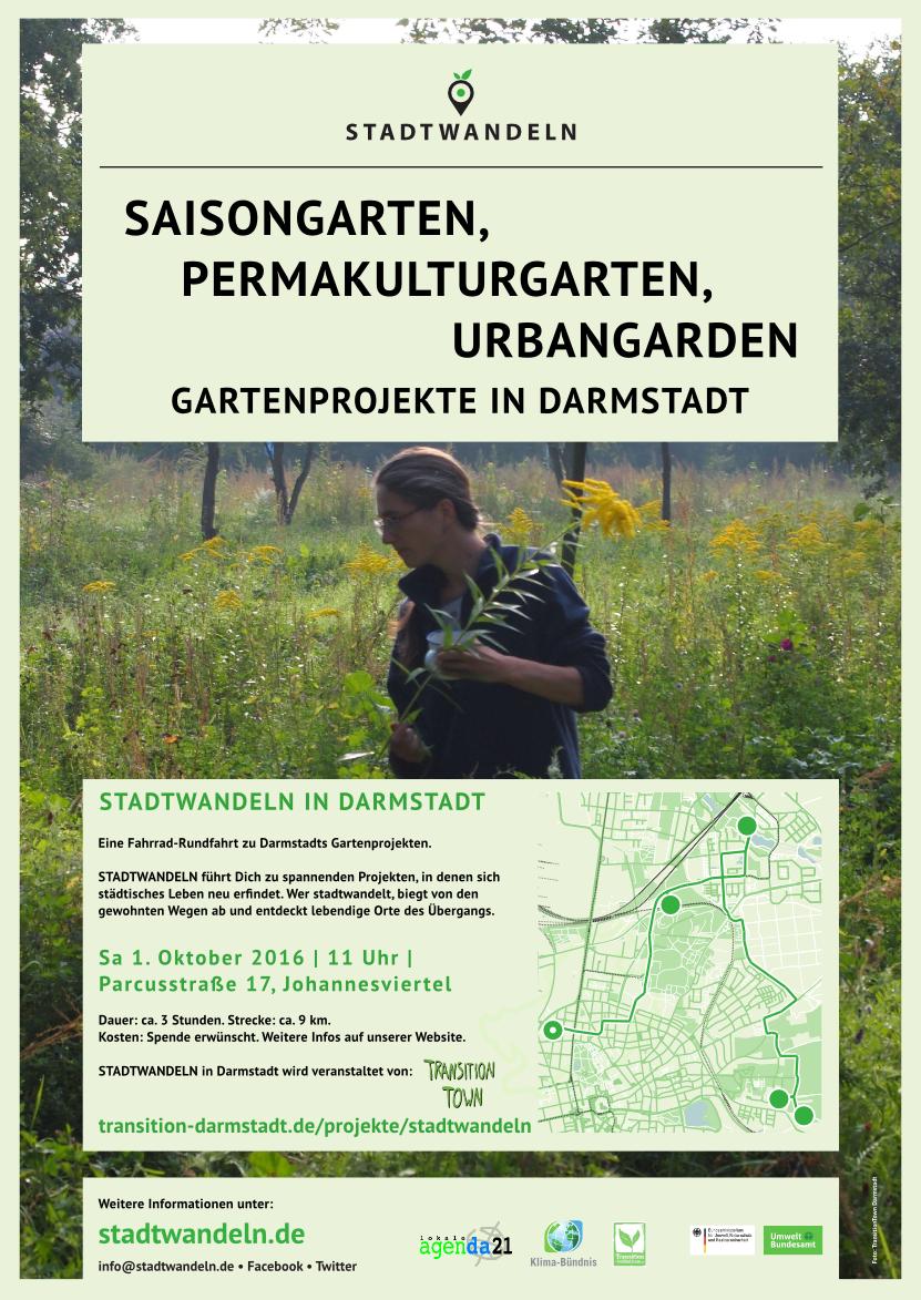 Plakat Gärtentour