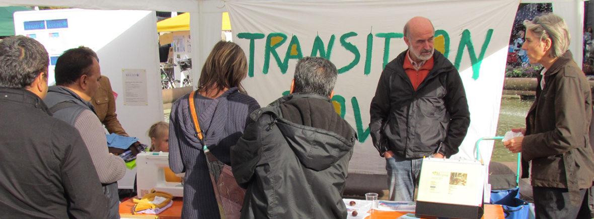 Infostand Transition Town in der Darmstädter Innenstadt