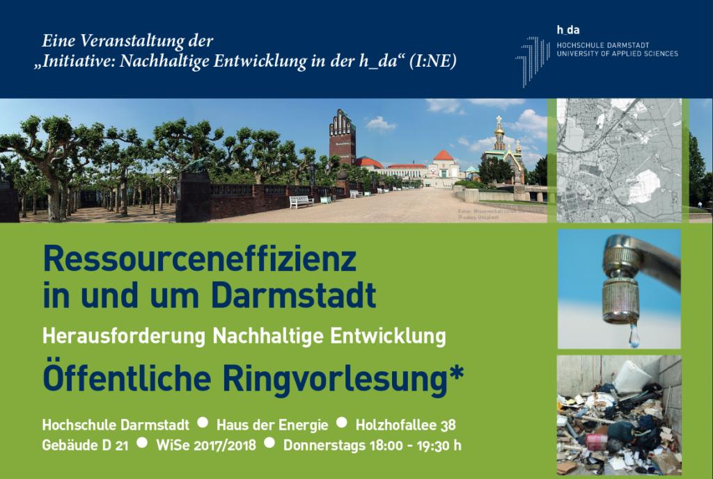 """Ringvorlesung """"Ressourceneffizientes Darmstadt"""" @ Haus der Energie"""