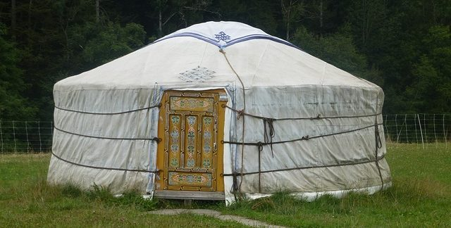 Mongolische Jurte aufbauen @ MenschenskinderGarten