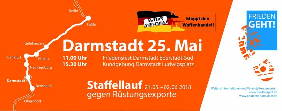 Staffellauf gegen Rüstungsexporte @ Eberstadt -> Luisenplatz