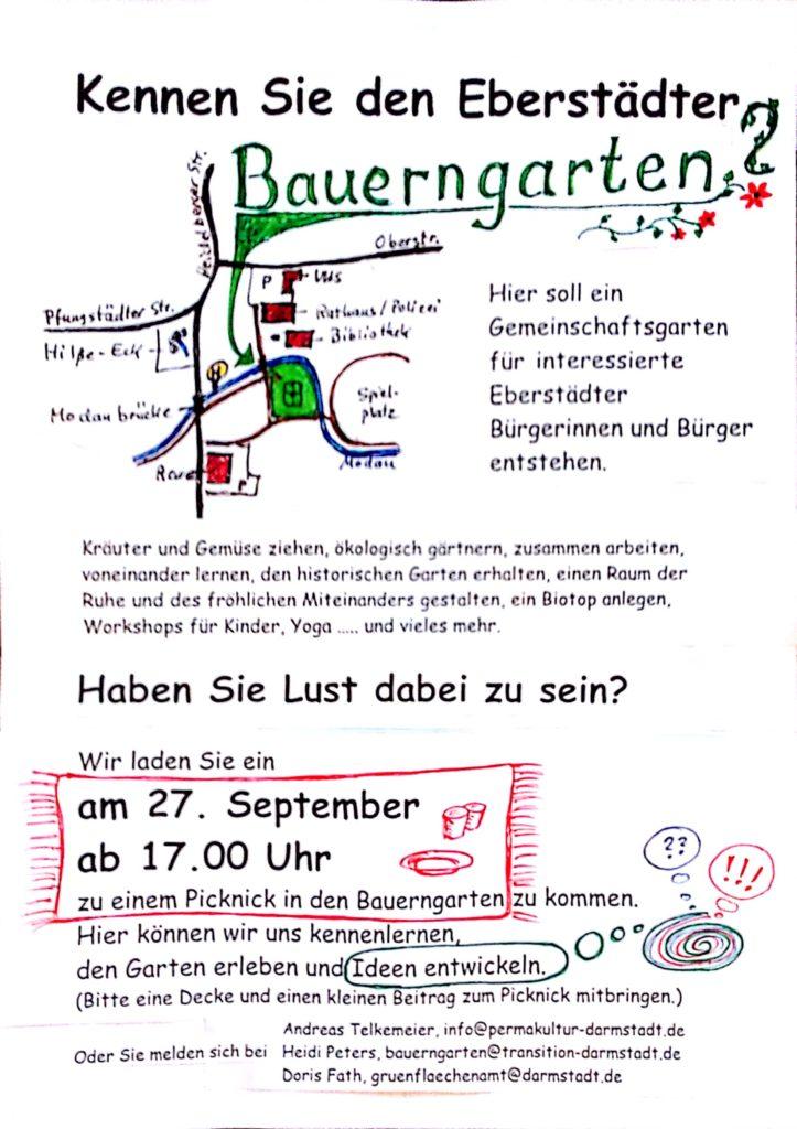Picknick im Eberstädter Bauerngarten @ Bauerngarten Eberstadt