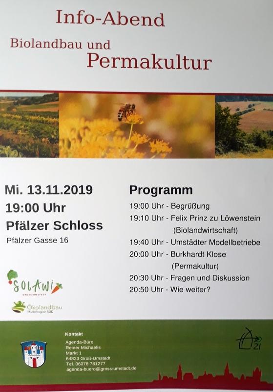 Infoabend zu Biolandbau und Permakultur in Groß-Umstadt @ Groß-Umstadt, Pfälzer Schloss
